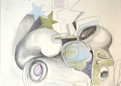 Stars | pencil, colored pencil on paper | 10 x 8 inches